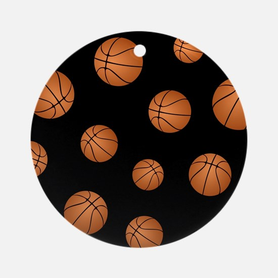 Basketball pattern Ornament (Round)