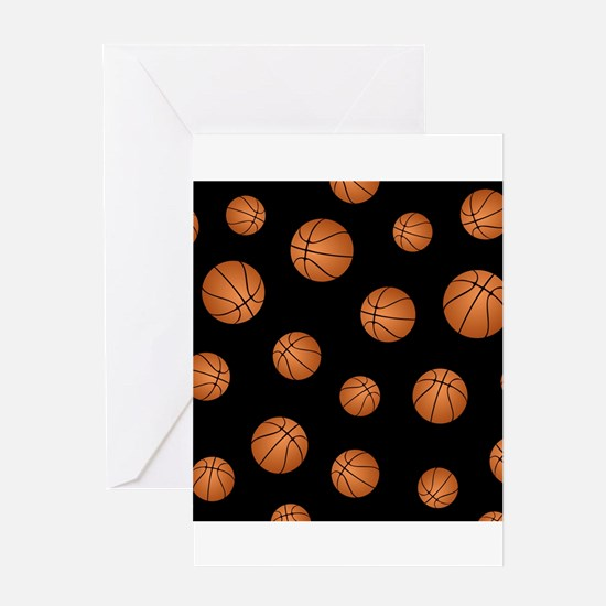 Basketball pattern Greeting Cards