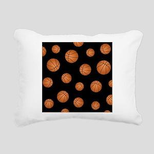 Basketball pattern Rectangular Canvas Pillow