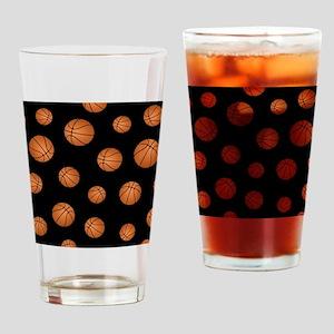 Basketball pattern Drinking Glass