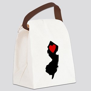 New Jersey Heart Canvas Lunch Bag