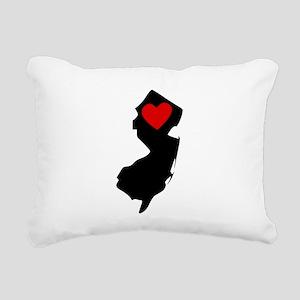 New Jersey Heart Rectangular Canvas Pillow