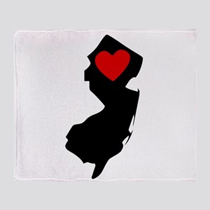 New Jersey Heart Throw Blanket