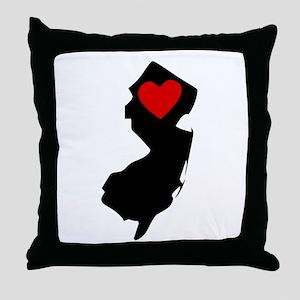 New Jersey Heart Throw Pillow