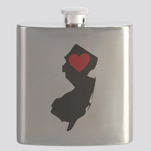 New Jersey Heart Flask