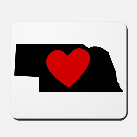 Nebraska Heart Mousepad