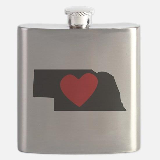 Nebraska Heart Flask