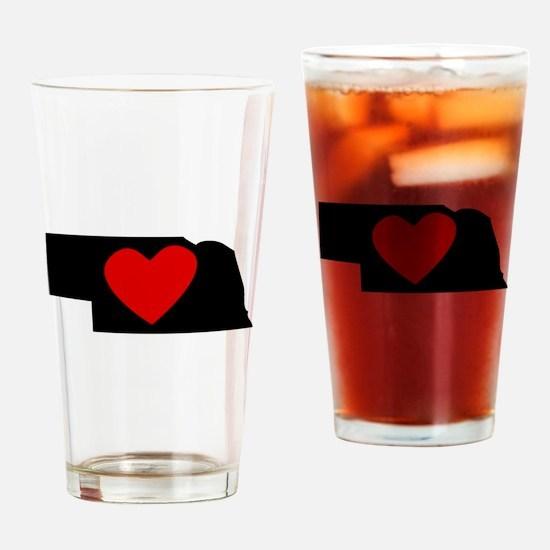 Nebraska Heart Drinking Glass