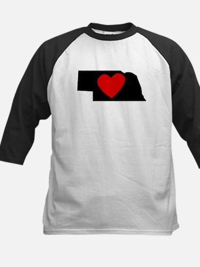 Nebraska Heart Baseball Jersey