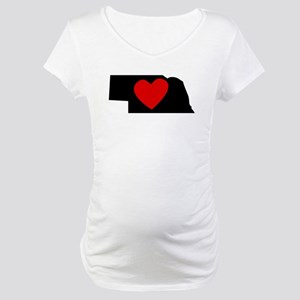 Nebraska Heart Maternity T-Shirt