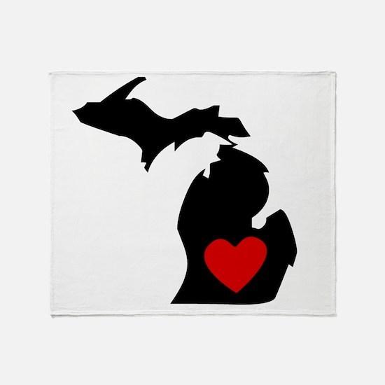 Michigan Heart Throw Blanket