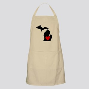 Michigan Heart Apron