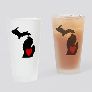 Michigan Heart Drinking Glass