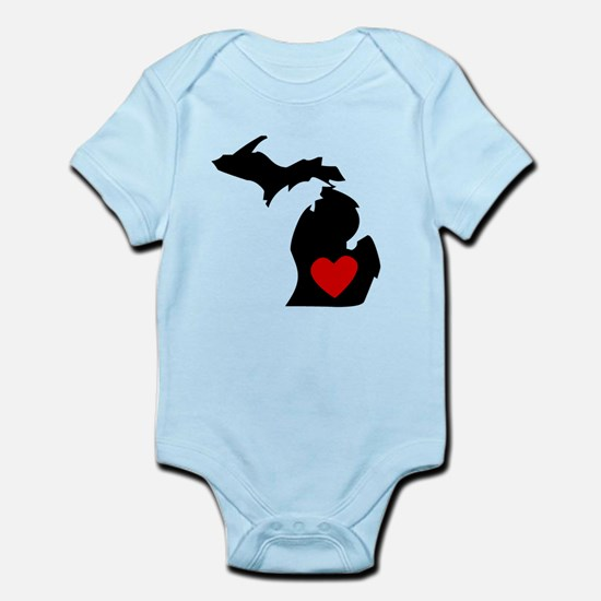 Michigan Heart Body Suit