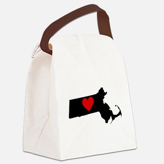 Massachusetts Heart Canvas Lunch Bag