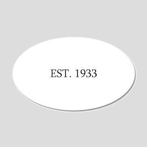 Est 1933 Wall Sticker