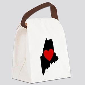 Maine Heart Canvas Lunch Bag