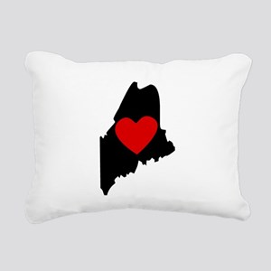 Maine Heart Rectangular Canvas Pillow