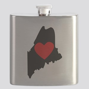 Maine Heart Flask