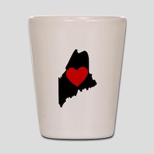 Maine Heart Shot Glass