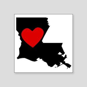 Louisiana Heart Sticker