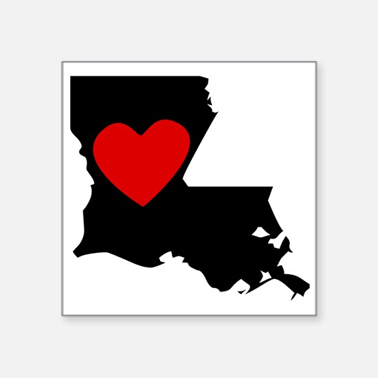 Louisiana Heart Sticker