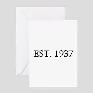 Est 1937 Greeting Cards