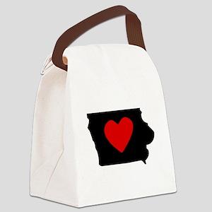 Iowa Heart Canvas Lunch Bag