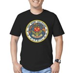 USS NEW ORLEANS Men's Fitted T-Shirt (dark)