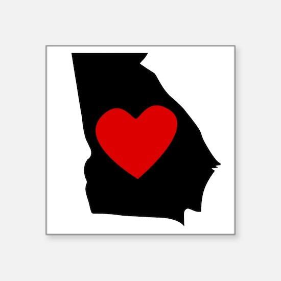 Georgia Heart Sticker