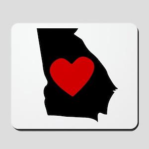 Georgia Heart Mousepad