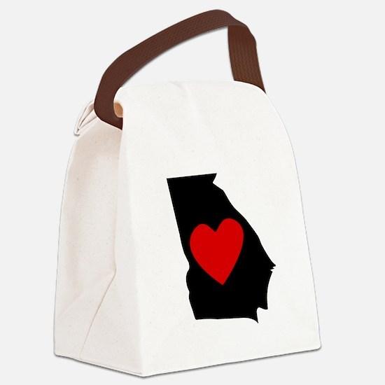 Georgia Heart Canvas Lunch Bag