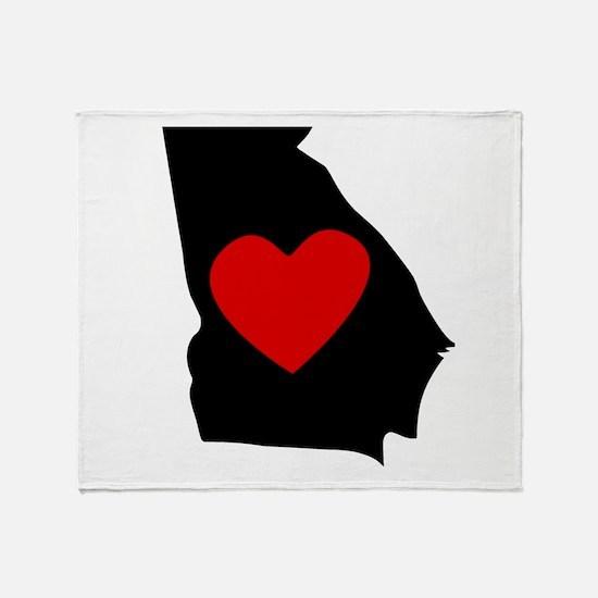 Georgia Heart Throw Blanket