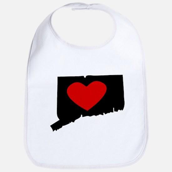 Connecticut Heart Bib