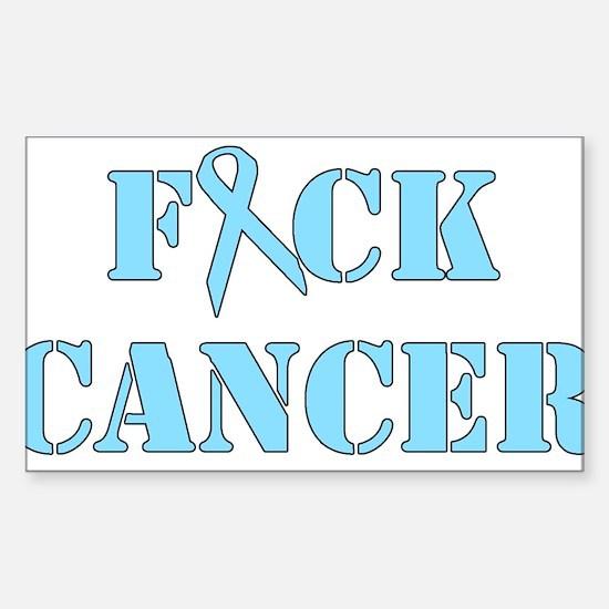 F*ck Cancer Light Blue Decal