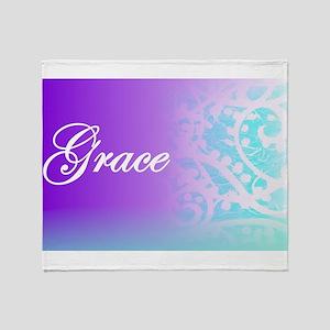 Essence of Grace! Throw Blanket