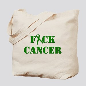 F*ck Cancer Green Tote Bag