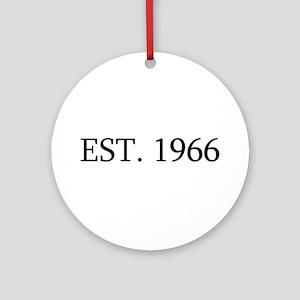 Est 1966 Ornament (Round)