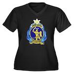 USS ORION Women's Plus Size V-Neck Dark T-Shirt