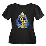 USS ORIO Women's Plus Size Scoop Neck Dark T-Shirt