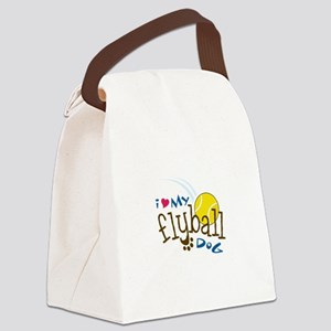 I Love My Flyball Dog Canvas Lunch Bag