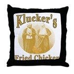 Kluckers Fried Chicken Throw Pillow