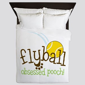 Flyball Obsessed Pooch Queen Duvet