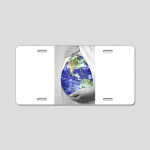 The Earth Mother Aluminum License Plate