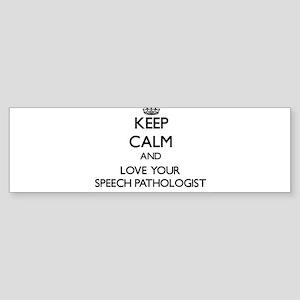 Keep Calm and Love your Speech Pathologist Bumper