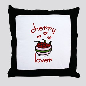 Cherry lover Throw Pillow