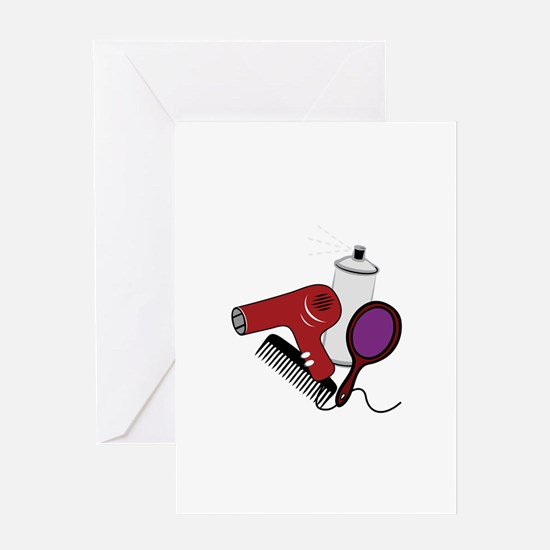 Hair Tools Greeting Cards