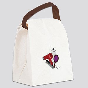 Hair Tools Canvas Lunch Bag