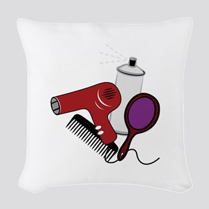 Hair Tools Woven Throw Pillow