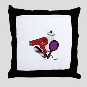 Hair Tools Throw Pillow
